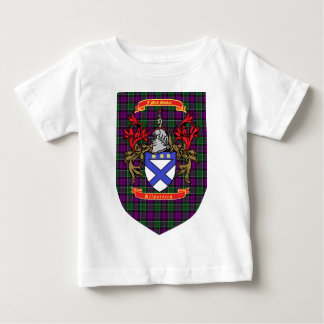 Kilpatrick crest on Colquhoun Purple Tartan Baby T-Shirt