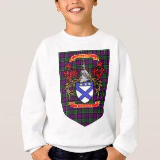 Kilpatrick crest on Colquhoun Purple Tartan Sweatshirt