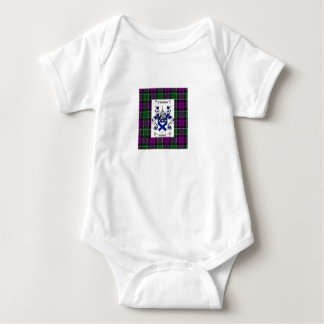 Kilpatrick on Colquhoun Purple tartan Baby Bodysuit