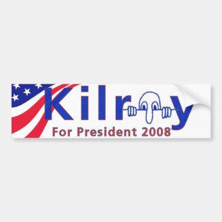 Kilroy 08 etiqueta de parachoque