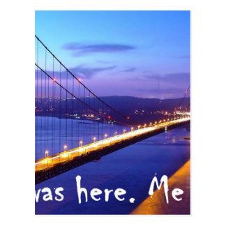 Kilroy and me in San Francisco Postcard