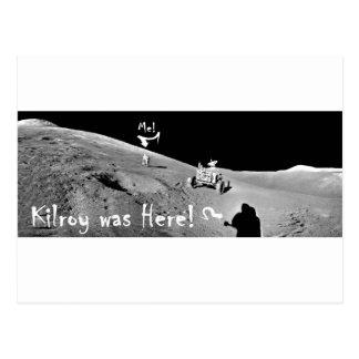 Kilroy and me on the Moon Postcard