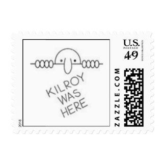 Kilroy was here... on a stamp... postage stamps
