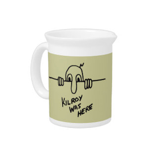 Kilroy Was Here Pitcher