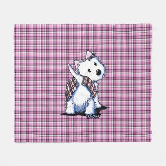 Kilted Highland Moon Westie Fleece Blanket