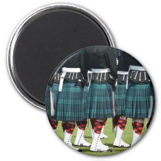 Kilted Men in Edinburgh, Scotland Refrigerator Magnets