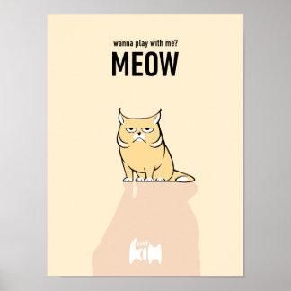 Kim Cat Meow Poster