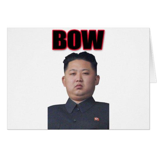kim jong il bow card