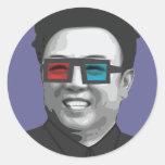 Kim Jong-il - Corea del Norte Pegatina Redonda