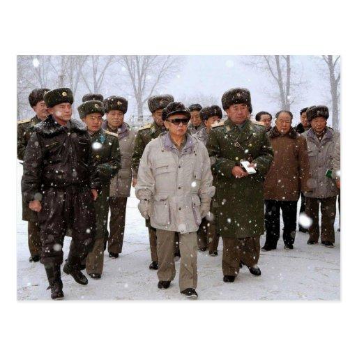 Kim Jong-il, Corea del Norte Tarjetas Postales