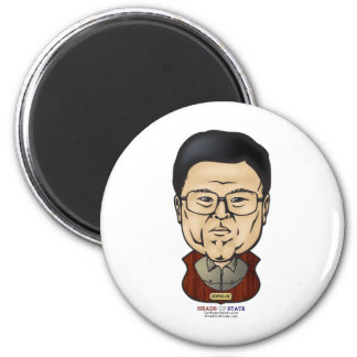 Kim Jong-il - Heads of State 2 Inch Round Magnet