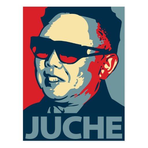 Kim Jong Il - Juche: OHP Postcard