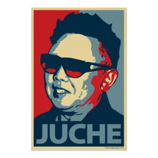Kim Jong-il - Juche: Poster de la parodia de Obama