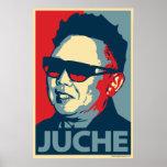 Kim Jong-il - Juche: Poster de la parodia de Obama Póster