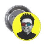 Kim Jong-Il - North Korea 2 Inch Round Button
