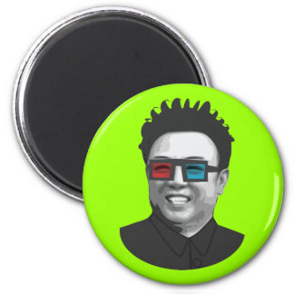 Kim Jong-Il - North Korea 2 Inch Round Magnet