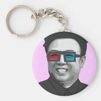 Kim Jong-Il - North Korea Basic Round Button Keychain