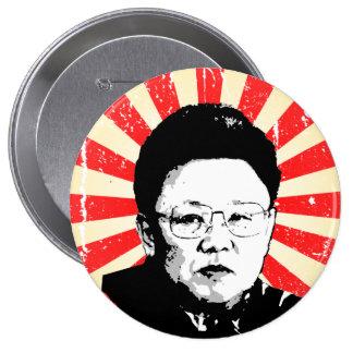 Kim Jong Il Pin Redondo 10 Cm