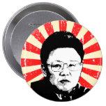 Kim Jong Il Pinback Button