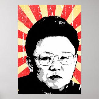 Kim Jong Il Póster