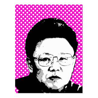 Kim Jong Il Tarjeta Postal