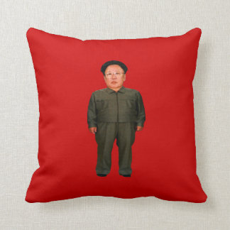 Kim Jong Il Throw Pillow
