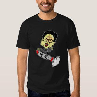 Kim Jong-Il with Gun Site T-Shirt