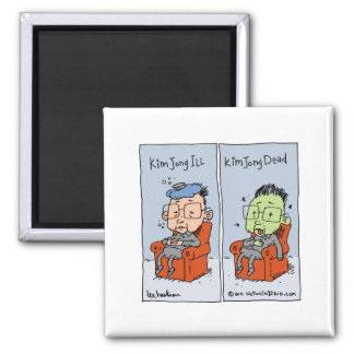 kim jong ill 2 inch square magnet
