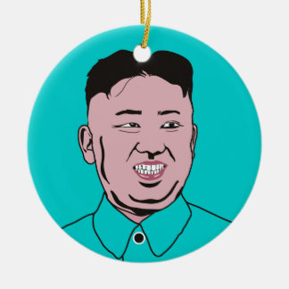 Kim Jong-un | 김정은 Double-Sided Ceramic Round Christmas Ornament
