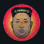 "Kim Jong Un Dictator Do Dartboard<br><div class=""desc"">North Korean dictator Kim Jong Un,  already known for his unique hairdo,  has updated his look.Kim Jong appears to have grown his hair out and had it sculpted into a trapezoidal shape. And,  for good measure,  it seems he&#39;s had his eyebrows trimmed.</div>"