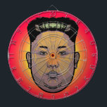 "Kim Jong Un Dictator Do Dartboard<br><div class=""desc"">North Korean dictator Kim Jong Un,  already known for his unique hairdo,  has updated his look.Kim Jong appears to have grown his hair out and had it sculpted into a trapezoidal shape. And,  for good measure,  it seems he"