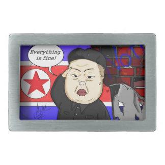 Kim Jong Un, North Corea Dictator, Corea, Funny, Hebillas De Cinturon Rectangulares