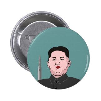 Kim Jong-un & nuclear missile Pinback Button
