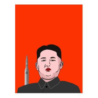 Kim Jong-un nuclear missile Post Cards
