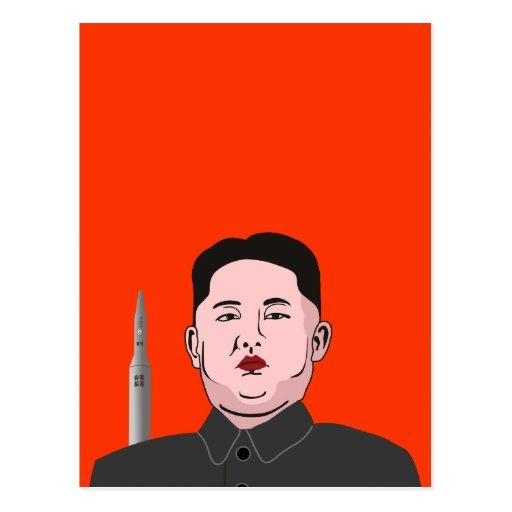 Kim Jong-un & nuclear missile Post Cards