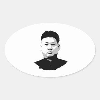 Kim Jong Un Oval Sticker