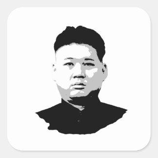 Kim Jong Un Square Sticker
