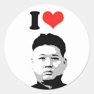 Kim Jong Un Classic Round Sticker