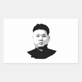 Kim Jong Un Rectangular Sticker