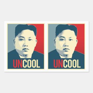Kim Jong Un - Uncool - Propaganda Poster - Rectangular Sticker