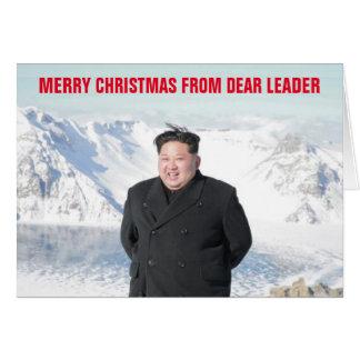 Kim Jung Un Christmas Card