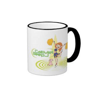 "Kim Possible and Rufus ""Call Me Beep"" cheerleading Ringer Coffee Mug"