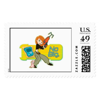 Kim Possible and Rufus Disney Stamp