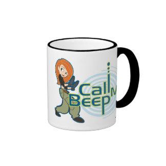Kim Possible Call Me Beep Disney Ringer Coffee Mug