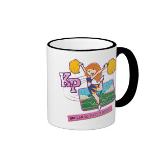 Kim Possible Cheerleading Disney Ringer Coffee Mug