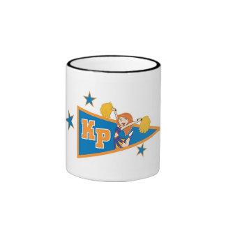 Kim Possible Cheerleading Flag Disney Ringer Coffee Mug
