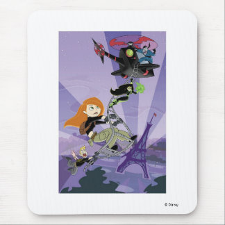 Kim Possible climbing helicopter eiffel tower Mouse Pad