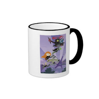 Kim Possible climbing helicopter eiffel tower Ringer Coffee Mug