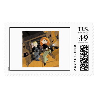 Kim Possible exploring with flashlight Disney Postage