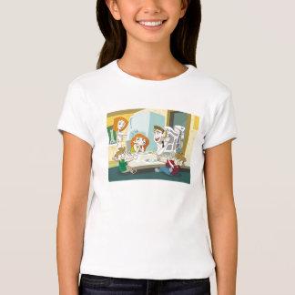 Kim Possible family breakfast twins food fight T-Shirt